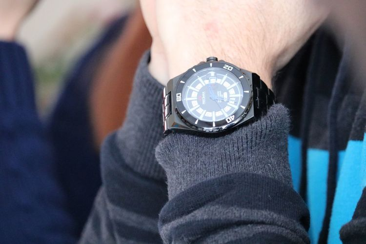 Hour Time Human Body Part Wristwatch Real People One Person Human Hand Focus On Foreground Close-up Watch Indoors  Clock Minute Hand Day People