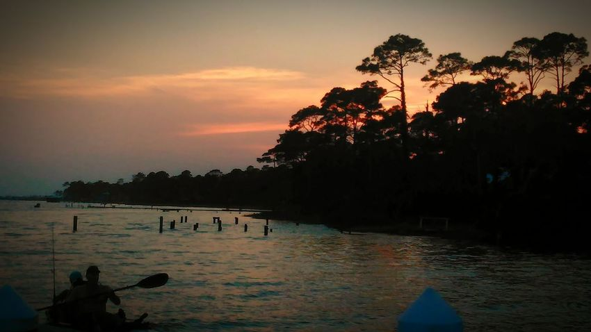 Beauty In Nature Silhouette Tranquility Sunset Lake Outdoors Cloud - Sky Nautical Vessel Beach Nature Vacations Reflection Kayaking In Nature Kayak Kayak Fishing Gulf Shores, AL Gulf Of Mexico Summer EyeEm Best Shots - Landscape Outdoor Photography EyeEm Selects Travel Photography Nature EyeEm