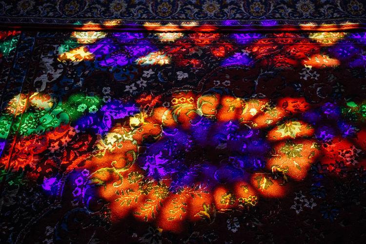 Full frame shot of illuminated painting