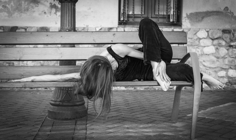Ballerina Bench Dancing Foot Performer  Acrobat Art Ballet Black And White Dance Shoes Dancer Expression Flexibility Flexible Gymnastics Human Hand Mime Movement One Person Posing Street Dance