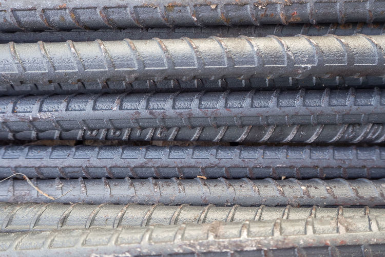 The construction steel bar image close up for background. Construction Aluminum Backgrounds Close-up Construction Industry Construction Steel Bar Construction Work Construction Worker Day Full Frame No People Outdoors Roof Stack Steel Bars