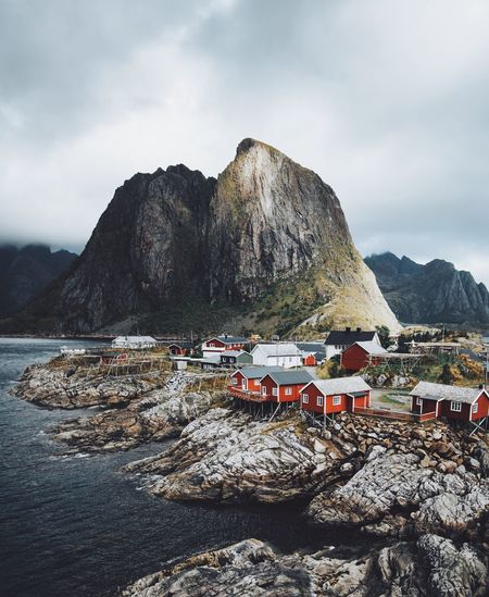 Norway at it's finest Mountain Sky Nature Outdoors Tranquility Day Tranquil Scene Beach Scenics Sea Mountain Range Beauty In Nature Cloud - Sky No People Water Sand
