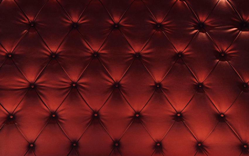 Full frame shot of leather sofa