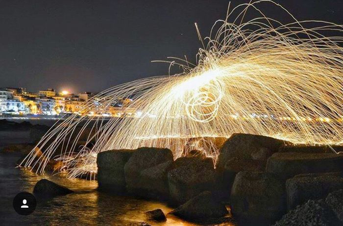 Fire Steelwoolphotography Steelwool Fuoco Fuochi Scintille Landscape Crotone Calabria Lights Light Night Long Exposure First Eyeem Photo