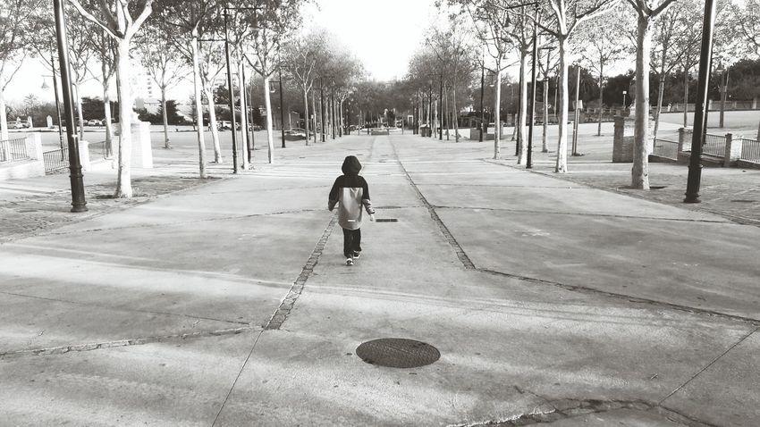 One Person Black And White Arroyo De La Miel Spain🇪🇸 Black & White Blackandwhite Photography EyeEmNewHere Outdoors Daytime