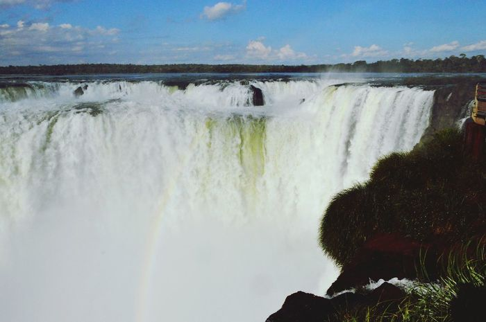 Iguazu 🌈🔆 Watching Waterfalls Purewater Rainbow Beautiful Amazing View Photography