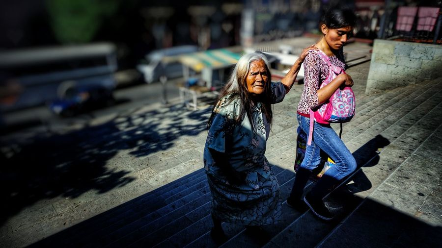 EyeEm Diversity Girls Togetherness Females Mother Adult People Oaxaca Mexico Streetphotography Women Walking Ancientpeople Two People The Street Photographer - 2017 EyeEm Awards