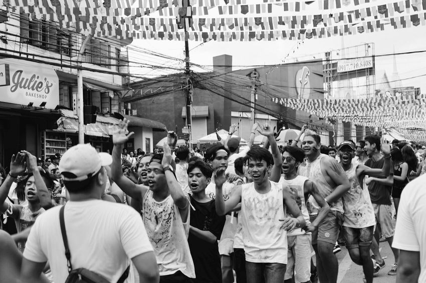 Sinulog Festival Crowd Large Group Of People City Men Women People Adult Outdoors Adults Only Day