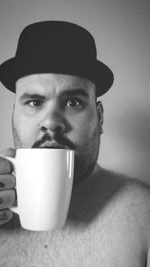 My best friend Joe and I. Blackandwhite Black And White Portrait Coffee Coffee At Home Coffee Cup Coffeetime Beard Black And White Dailyphoto