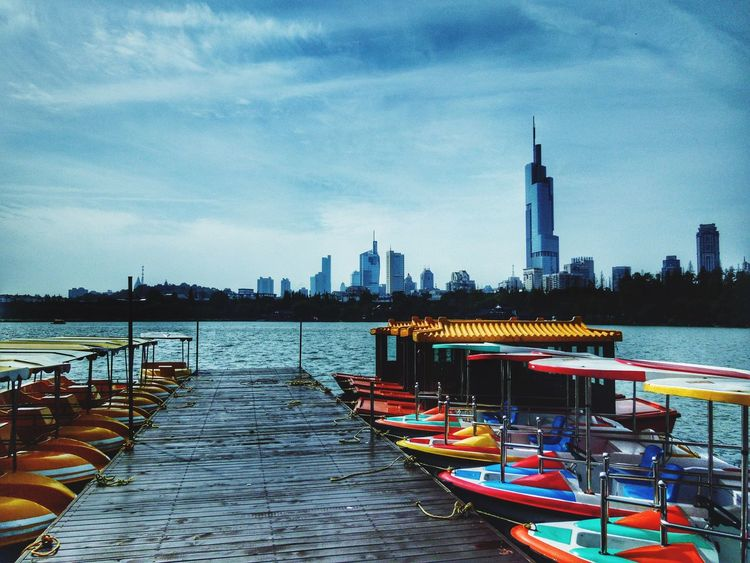 Building Exterior City Architecture Sky Built Structure Nautical Vessel Transportation Cloud - Sky Outdoors Water River Cityscape No People Skyscraper Day Skyline