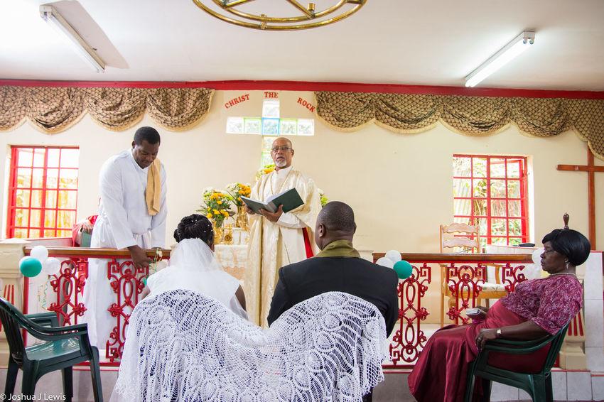 Groom Young Adult Family Wedding Photography Wedding Day Church Ceremony Stillife Celebration Beautiful People Trinidad And Tobago Spirituality Religion Bride Holycross