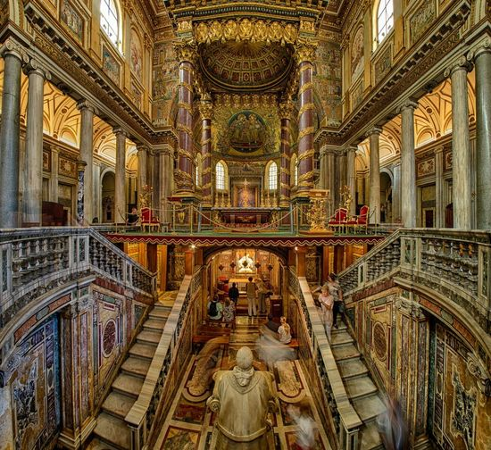Rome Italy Panini Wideangle Cathedral Church