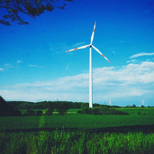 Vscocam Windmill Windwheel Whindengine Sky Bluesky Clouds Tree Nature Landscape Labdscapelovers Landscape_lovers Landscape_captures Landscapestyles_gf