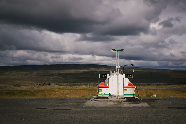 Beauty In Nature Day Desolate Gas Pump Iceland Iceland_collection Isolated Landscape Nature Nature No People Outdoors Overcast Remote Rural Scene Sky Storm Cloud