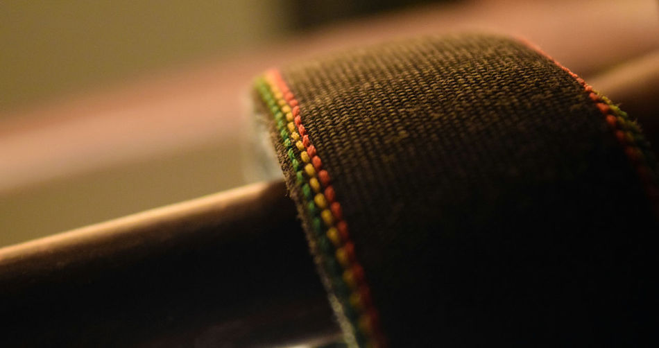 Detail shot of fabric against blurred background