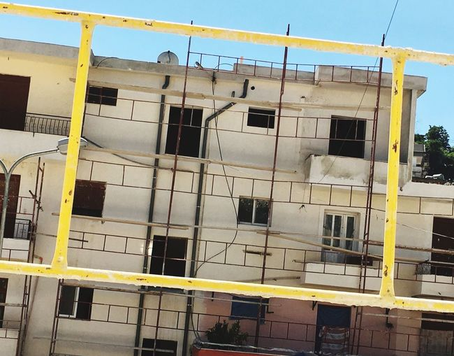 Architecture Building Exterior Building Built Structure Window No People Outdoors Yellow Day Albania Gjirokaster House Facade Renovation Paint The Town Yellow Colour Your Horizn