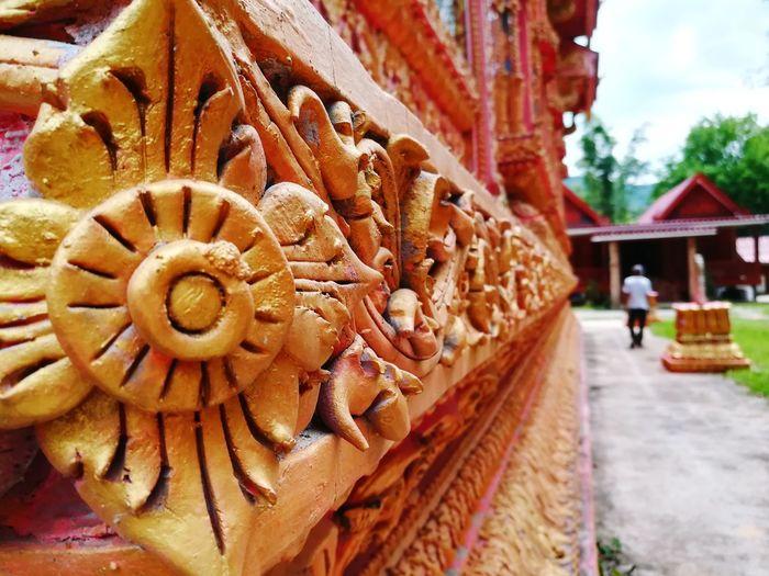 Temple Architecture Believe สุขใจที่วัดไทย gold Gold Colored Thailand Buddist Temple