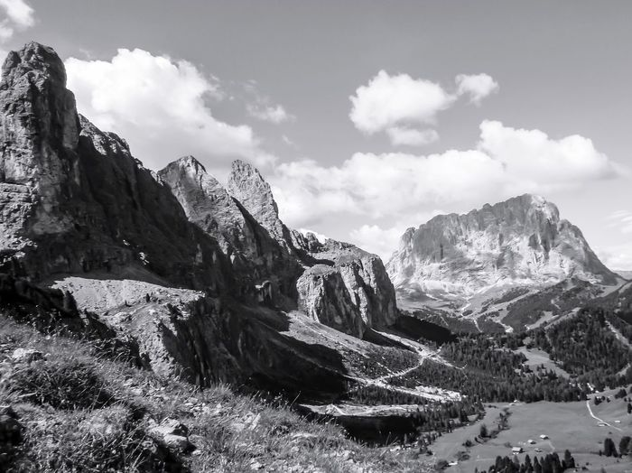 Dolomites in Black and White EyeEm Best Shots EyeEm Best Shots - Nature EyeEm Nature Lover Mountain Nature Sky Beauty In Nature Scenics No People Outdoors Tranquility Cloud - Sky Tranquil Scene Day Mountain Range Landscape Cold Temperature Snow