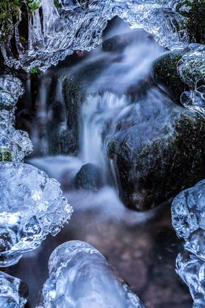 Beauty In Nature Blurred Motion Day Long Exposure Motion Nature No People Outdoors Rock - Object Scenics Tranquil Scene Tranquility Water Waterfall
