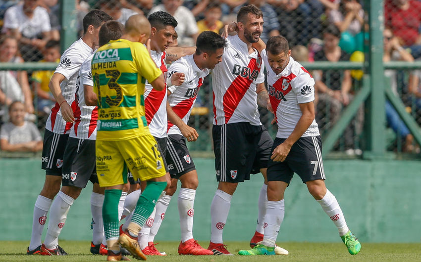 Celebration Pratto River Plate Competition Futbol Match - Sport Real People Soccer Soccer Player Sport Stadium