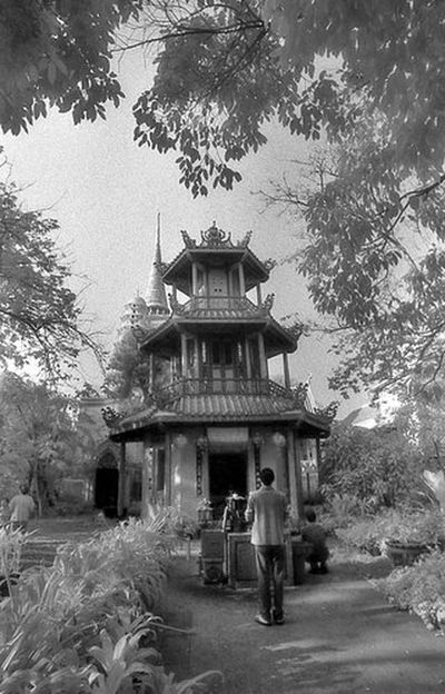 Architecture Black And White Building Exterior Built Structure Cathedral Chinese Temple Church Clock Tower Cross Hie History Infrared Infrared Photography Low Angle View Outdoors Place Of Worship Religion Spirituality Tower