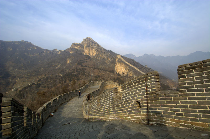 Scenic view of the great wall of china