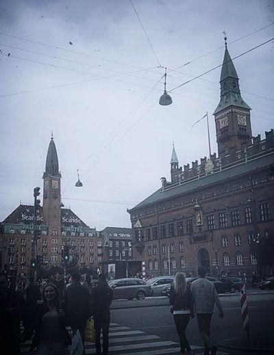 City hall of Copenhagen Architecture Built Structure Clock Scandinavian Style People Citylife Copenhagen, Denmark