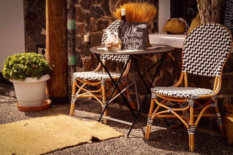 Travel Destinations Seat Chair Table No People Nature Potted Plant Day Food And Drink Sunlight Basket Wood - Material Food Cafe EyeEmNewHere