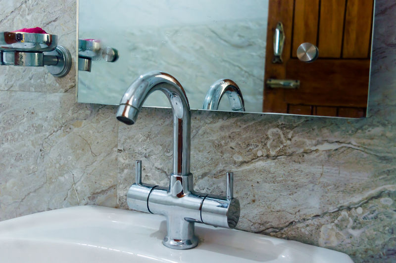 View of faucet in bathroom