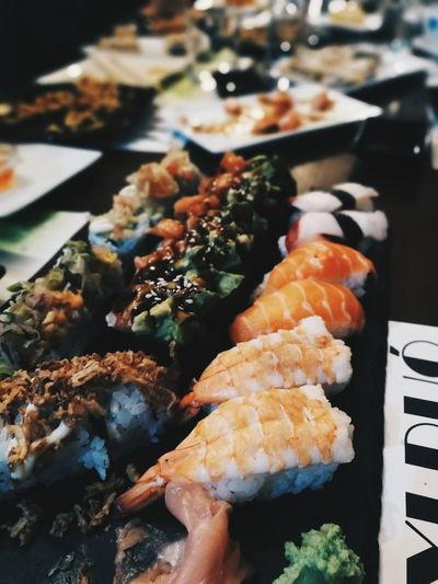 Sushi Sashimi  Seafood City Fish Japanese Food Close-up Food And Drink