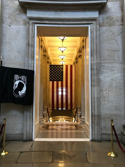 Flags Respect Pow Mia Flag US Flag US Capitol Building