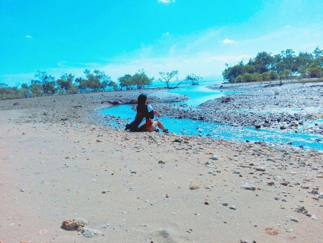 Water Occupation Beach Full Length Women Working Sand Sky