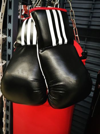 Box Boxer Boxing Fight Thai Boxing  Thailand Arts Black Boxing Glove Color Combat Fightclub Fighter Fighting Hanging Indoors  Kick Boxing Material No People Punchbag Punching Bag Red Self Defense Sport