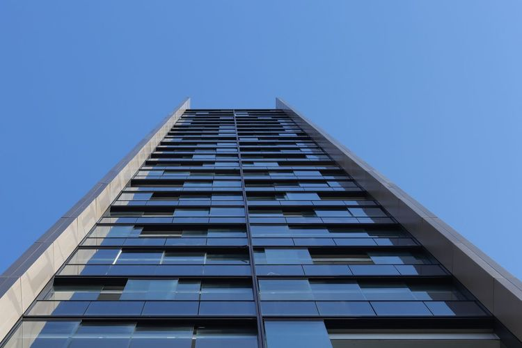 Apartment Architecture Blue Building Building Exterior Built Structure Canada Water City Clear Sky Copy Space Day Low Angle View Modern Nature No People Office Office Building Exterior Ontario Tower Outdoors Sky Skyscraper Tall - High Window