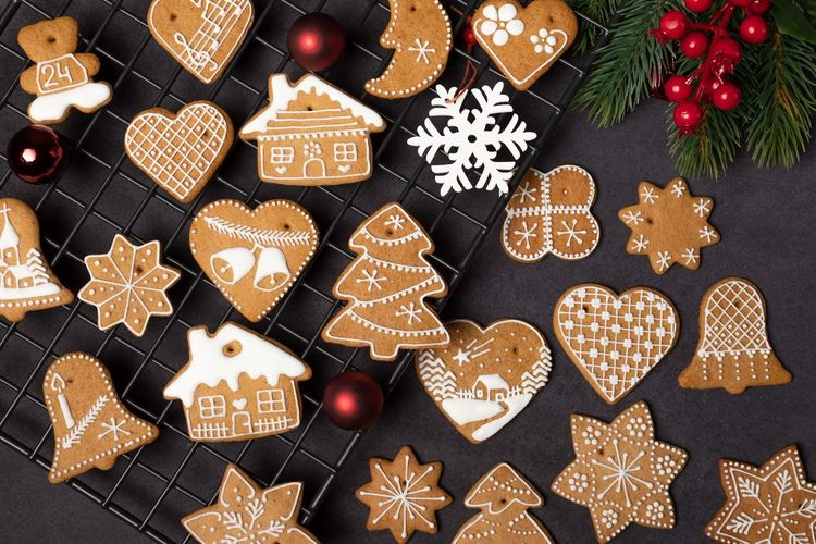 Holiday Christmas Decoration Celebration Shape Cookie Christmas Decoration Design Indoors  Baked Still Life christmas tree No People Pattern Christmas Ornament Food And Drink