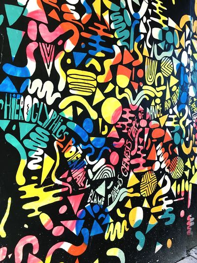 Multi Colored Backgrounds Abstract No People Day Graffiti Art ArtWork Culture Colors Colorful Netherlands Wall Modern Architecture Architectural Feature Outdoors No Filter EyeEm Best Shots Eyeemphotography Photography Streetphotography Street Street Photography Street Art