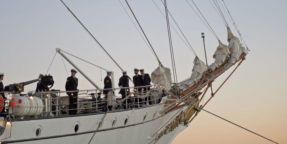 Nautical Vessel Transportation Sky Group Of People Mode Of Transportation Water Real People Nature Sea Men Sailboat Day Sailing Rope Mast Ship Medium Group Of People Clear Sky Outdoors Pole Fisherman Fishing Industry Sailor