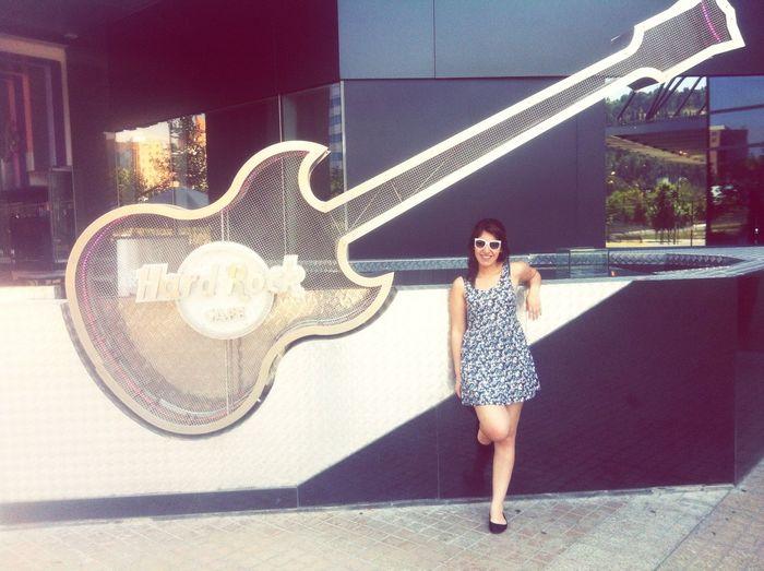 Hardrockcafe Santiago Chile Woman That's Me Enjoying Life