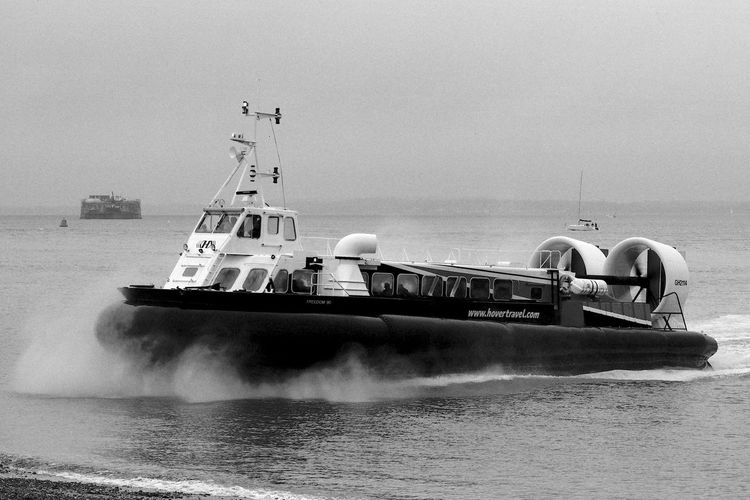 The Hovercraft Black & White Isle Of Wight, UK Blackandwhite Day Hovercraft Mode Of Transport Nature Nautical Vessel No People Outdoors Sea Transportation Water
