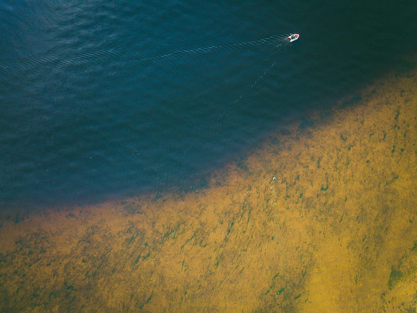Boat Aerial Shot DJI X Eyeem Drone  Aerial View Beach Beauty In Nature Boat Day High Angle View Land Mavic Mavic Pro Motion Nature Outdoors Reflection Rippled Scenics - Nature Sea Tranquil Scene Tranquility Transportation Water Waterfront