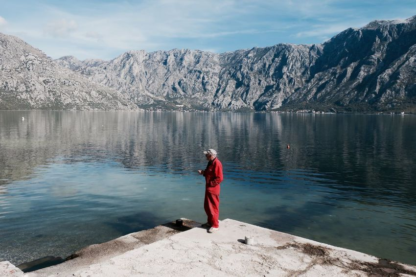 Adult Adventure Beauty In Nature Day Full Length Hiking Lake Landscape Lifestyles Men Mountain Nature One Man Only One Person One Senior Man Only Only Men Outdoors People Rear View Relaxation Scenics Tranquil Scene Tranquility Week On Eyeem Wellbeing Been There. Small Business Heroes