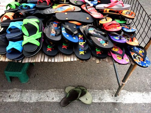 Shoe Shop Shoes Market Stall Multi Colored Shoe No People Variation Day Pair Outdoors Flip-flop Slippers