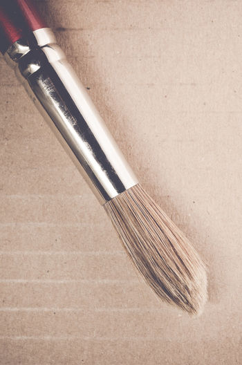 brush Bristles Brush Cardboard Minimalism Modern No People Objects Painting Shiny Things Still Life Top View