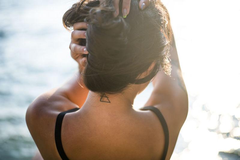 Portrait of woman in bikini