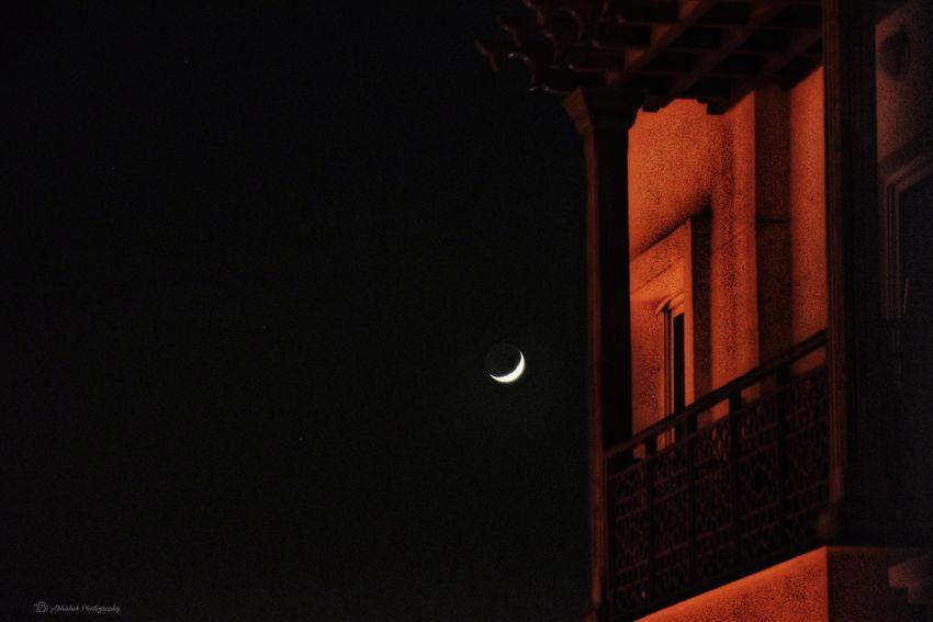 Star Night Sky Building Exterior Clicked On Nikon D3300 Moon Dubai❤ Moon Architecture Residential Structure Building Exterior