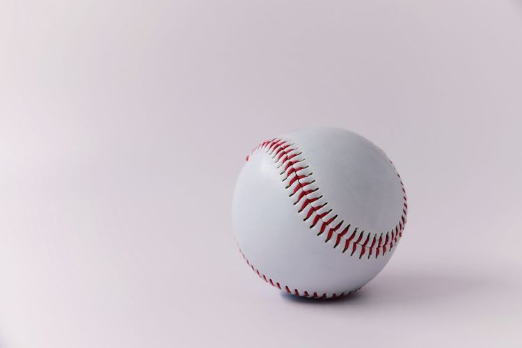 Close-up of ball against white background