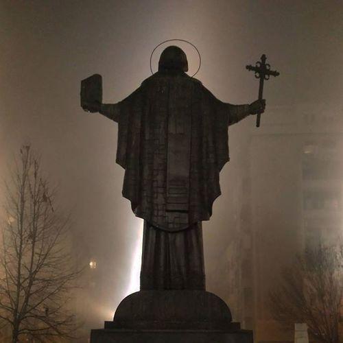 Fog Foggy Night Belgrade Saintsava