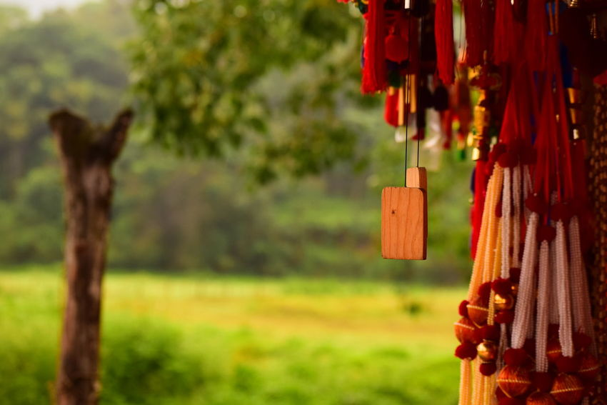 Nikon Nikonphotography Nikonphotographer Nikon D3300 D3300 Market Stall Hanging Wind Chime Tree Hanging Red Close-up Grass EyeEmNewHere Grassland Blade Of Grass Countryside Green Greenery Grass Area Stall For Sale Display Shop