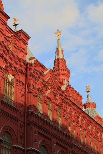 Architecture Travel Destinations Sky Building Exterior Low Angle View Cloud - Sky Built Structure Red Outdoors No People Day City Red Square Red Square Moscow Russia Kremlin Architecture Russia Moscow Moscow, Russia Tourism