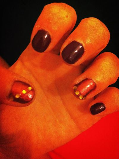 Love My Nails :*  Gems Think They Look Better Now Happy Girlie #yeeeeey